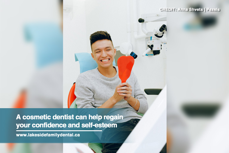 A cosmetic dentist can help regain your confidence and self-esteem