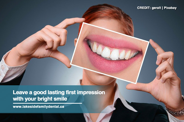 Leave a good lasting first impression with your bright smile