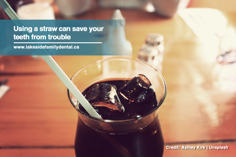 Using a straw can save your teeth from trouble