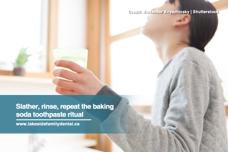 Slather, rinse, repeat the baking soda toothpaste ritual